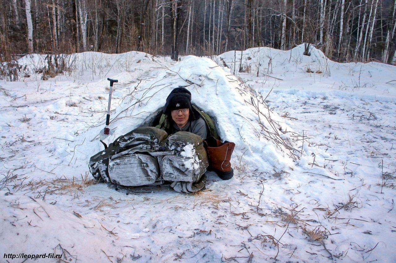 Особенности строительства снежных нор и ночёвок в них