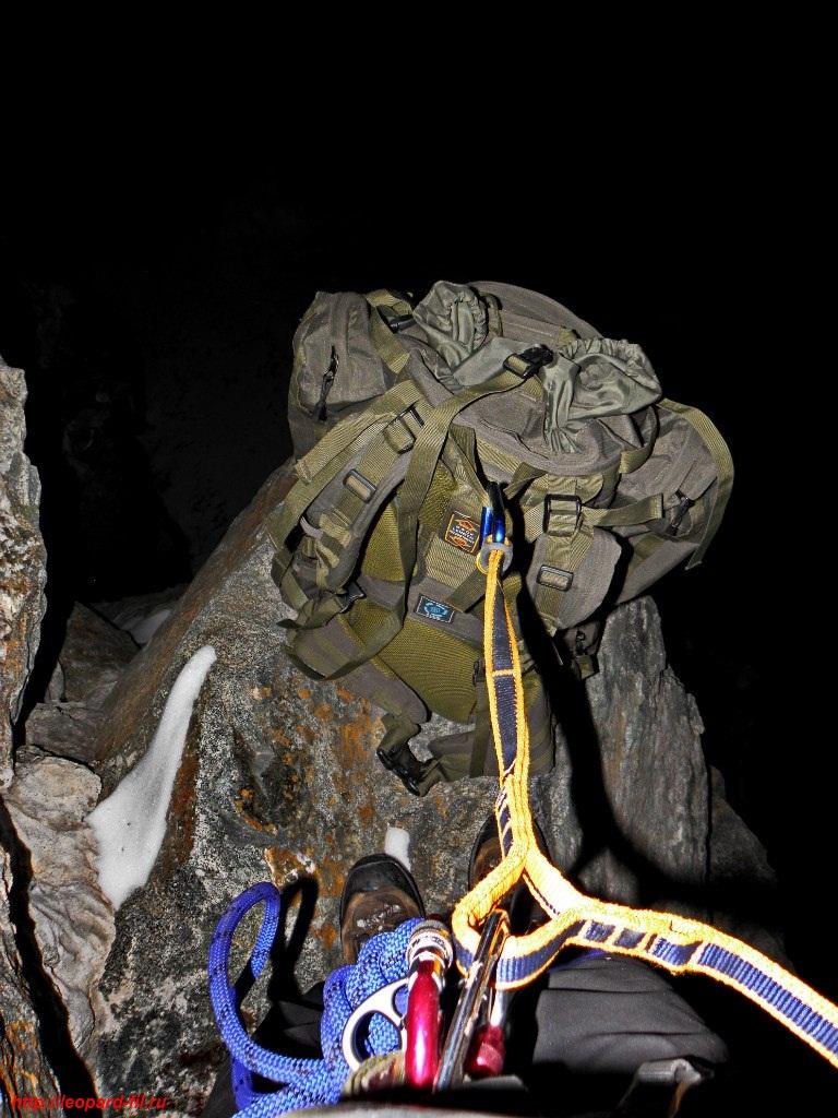 Тренировка аварийной ночёвки на скалах при восхождении