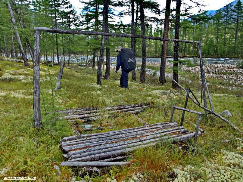 Пример оборудования стоянки на влажной местности