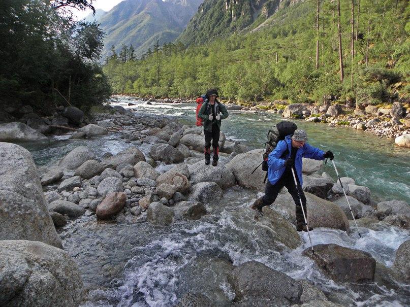 В низкую воду переход через Поливанный не представляет никаких проблем