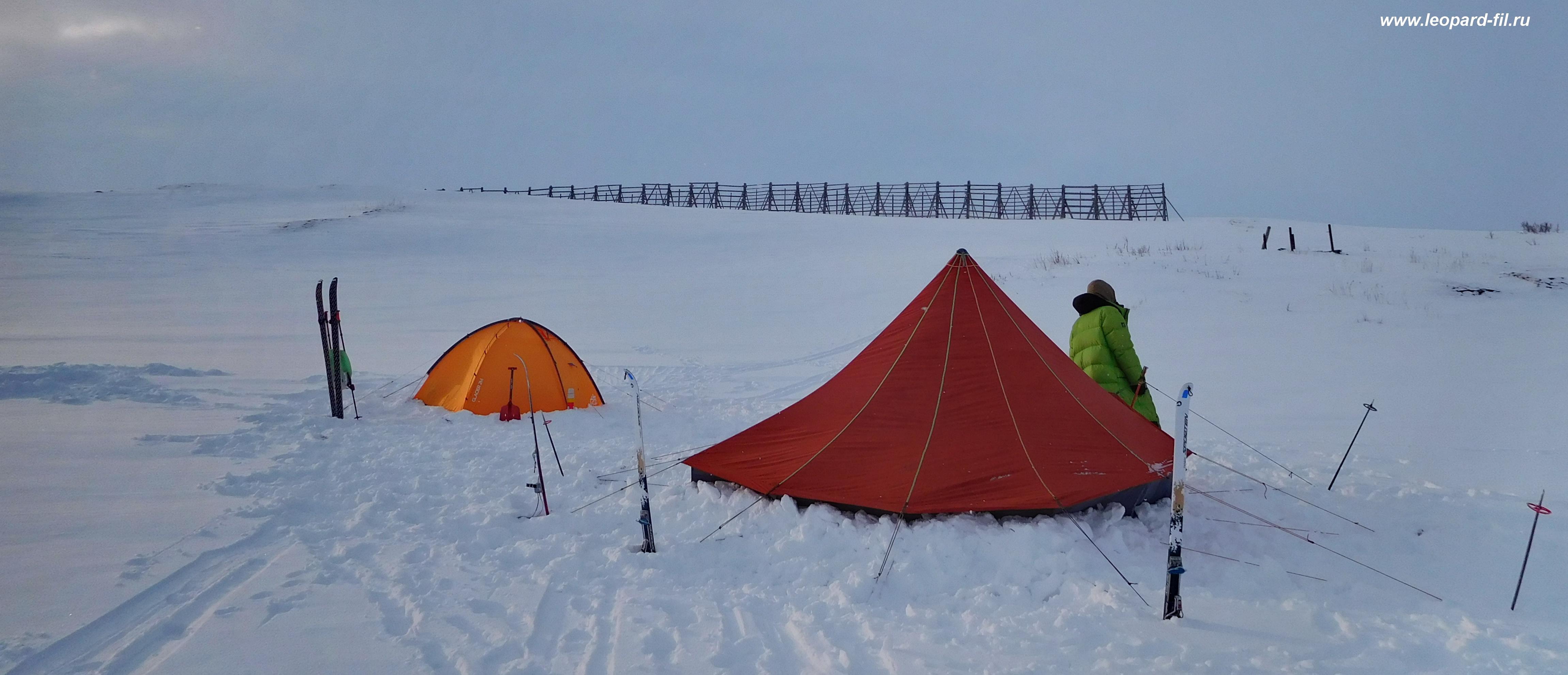 Однослойная палатка зимой - сравниваем с двухслойной