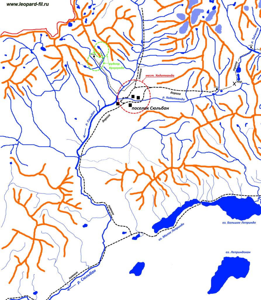Поселок Сюльбан и долина реки Сюльбан